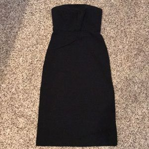 Express sexy strapless pencil dress w/ high slits